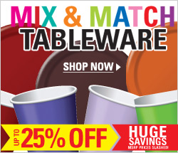 Party tableware in every color of the rainbow!