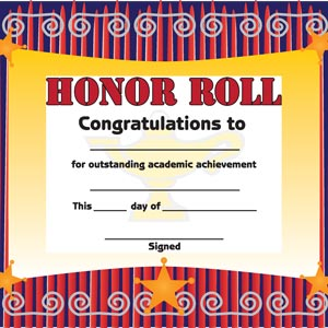 2710 - Honor Roll Certificate