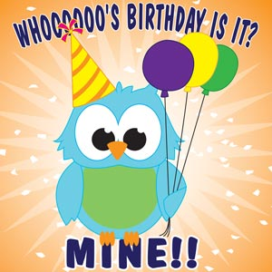 4178 - Whooos Birthday Owl