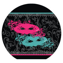 1779 - Pink and Teal Masks