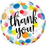 Thank You Polka Dots Metallic Balloon, 18""