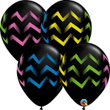 Black with Chevrons Latex Balloons