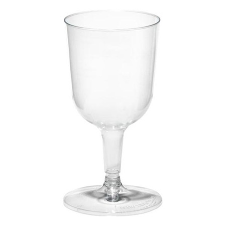 Clear Plastic Wine Glasses - 20 Pack