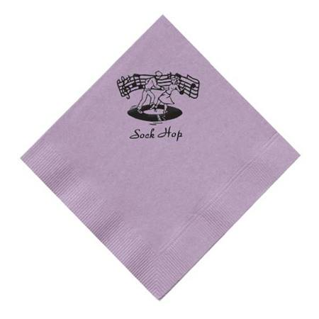 Colored Personalized Lunch Napkins