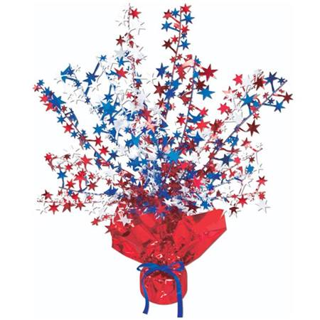 Red White and Blue Gleam 'N Burst Centerpiece