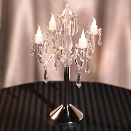 Clear LED Chandelier Table Lamp