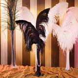 Ostrich Feather Centerpiece Kit - Black