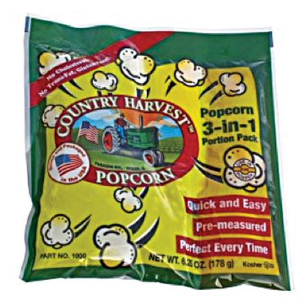 Country Harvest Tri-Pack for 4 oz Popcorn Machine