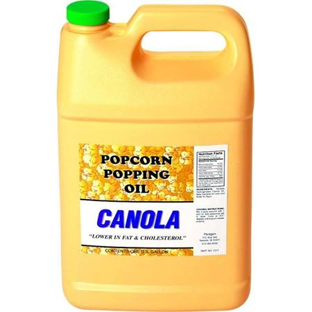 Canola Popcorn Popping Oil, 1 Gallon