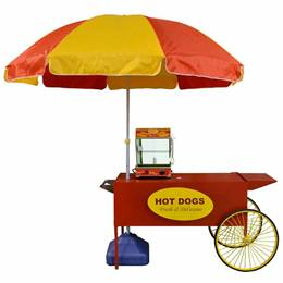 Hot Dog Cart with Umbrella