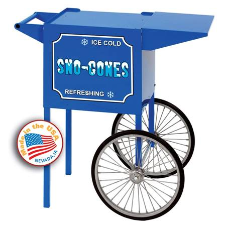 Small Blue Sno Cone Cart
