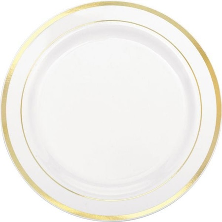 Gold Trim Lunch Plates, 7 1/2""
