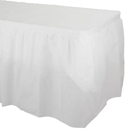 Better Than Linen Pleated Table Skirt
