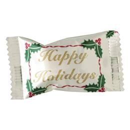 White Buttermints in Happy Holidays Wrapper 250 pk