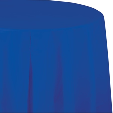 Cobalt Blue Round Plastic Table Cover