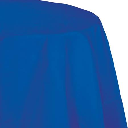 Cobalt Blue Round Tissue Table Cover