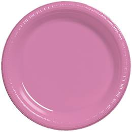 "Plastic Banquet Plates 10-1/4"" - Candy Pink"