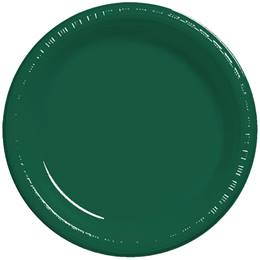 "Plastic Banquet Plates 10-1/4"" - Hunter Green"