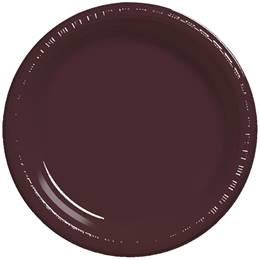 "Plastic Banquet Plates 10-1/4"" - Chocolate"