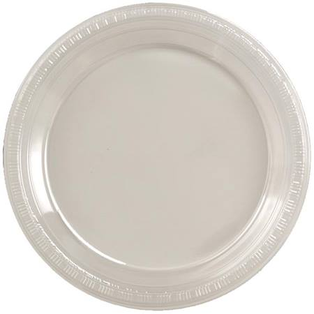 "Plastic Banquet Plates 10-1/4"" - Clear"