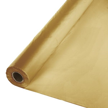 Solid Color Polyvinyl Banquet Roll - Glittering Gold