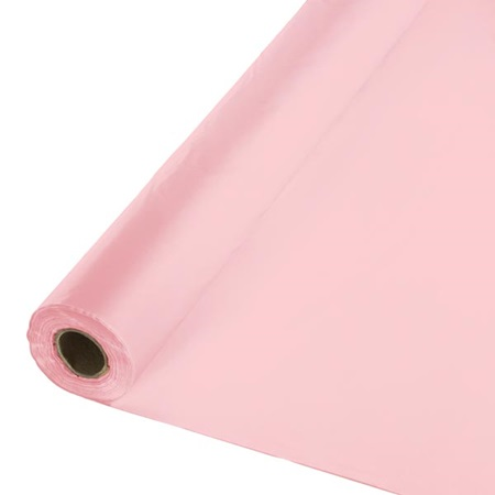 Solid Color Polyvinyl Banquet Roll - Classic Pink