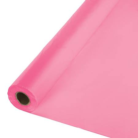 Solid Color Polyvinyl Banquet Roll - Candy Pink