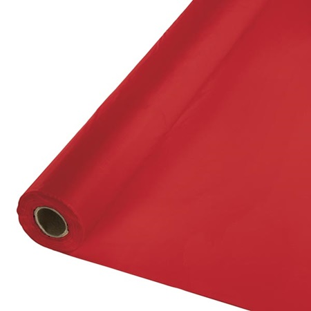 Solid Color Polyvinyl Banquet Roll - Red
