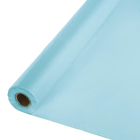 Solid Color Polyvinyl Banquet Roll - Pastel Blue