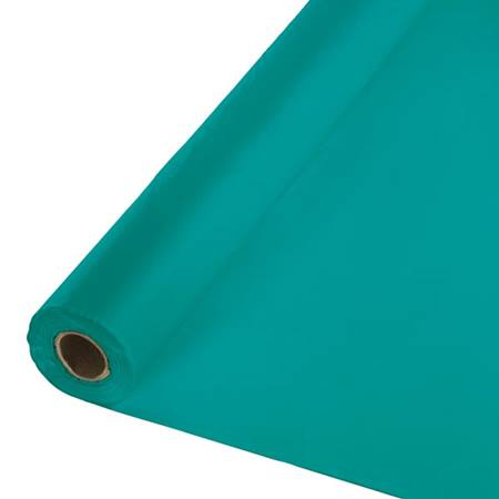 Solid Color Polyvinyl Banquet Roll - Teal