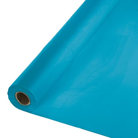 Solid Color Polyvinyl Banquet Roll - Turquoise