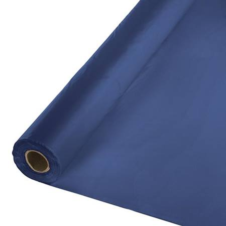Solid Color Polyvinyl Banquet Roll - Navy