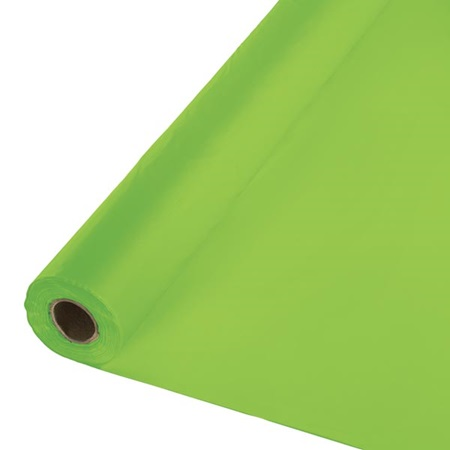 Solid Color Polyvinyl Banquet Roll - Fresh Lime
