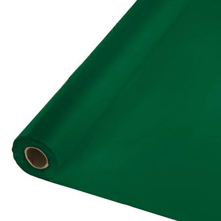 Solid Color Polyvinyl Banquet Roll - Hunter Green