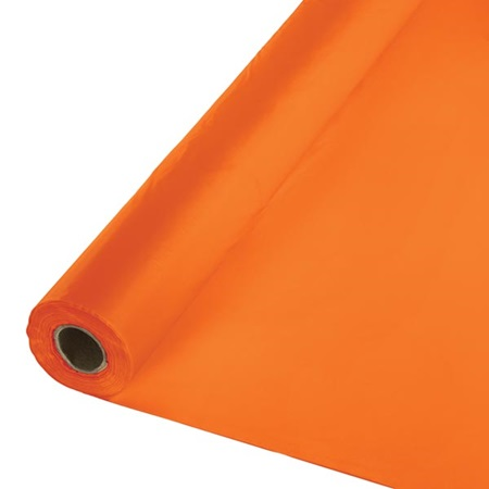 Solid Color Polyvinyl Banquet Roll - Sunkissed Orange