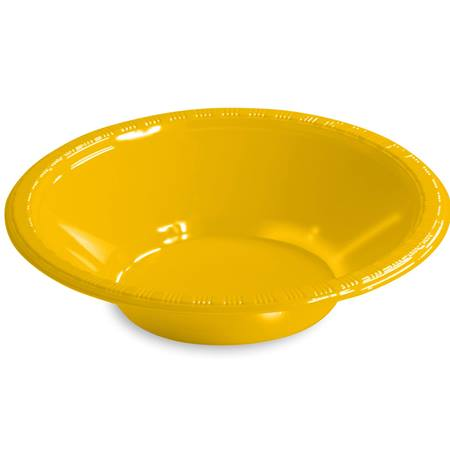 Solid Color Plastic Bowls, 12 oz. - School Bus Yellow
