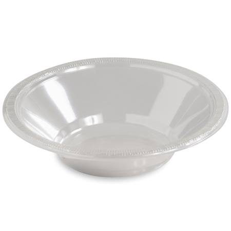 Solid Color Plastic Bowls, 12 oz. - Clear