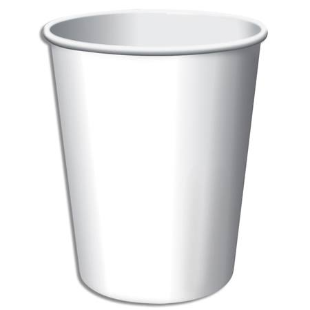 9oz Solid Color Cups - White