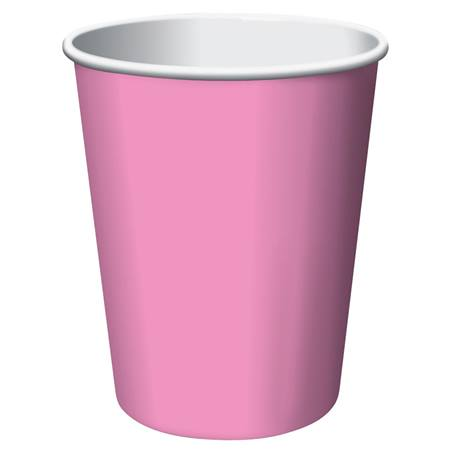 9oz Solid Color Cups - Candy Pink