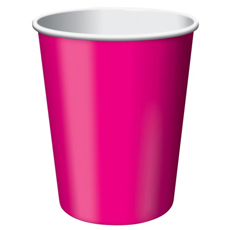 9oz Solid Color Cups - Hot Magenta