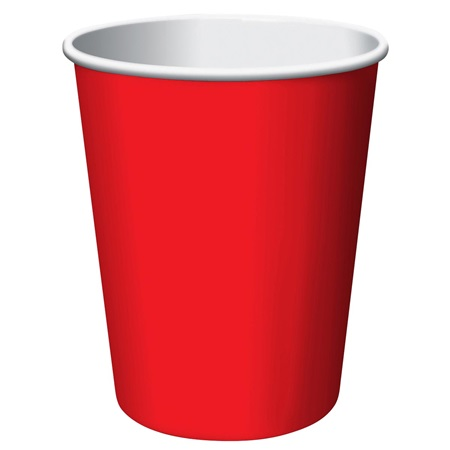 9oz Solid Color Cups - Red