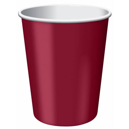 9oz Solid Color Cups - Burgundy