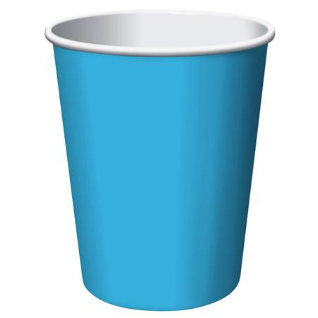 9oz Solid Color Cups - Turquoise