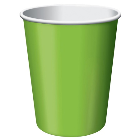 9oz Solid Color Cups - Lime