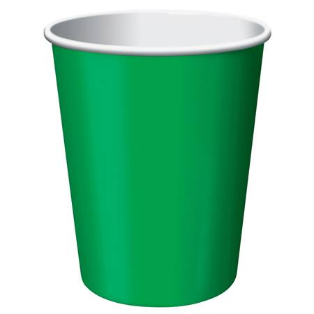 9oz Solid Color Cups - Emerald Green