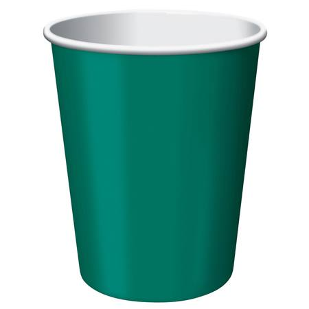 9oz Solid Color Cups - Hunter Green