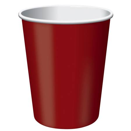 9oz Solid Color Cups - Brick
