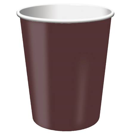 9oz Solid Color Cups - Chocolate