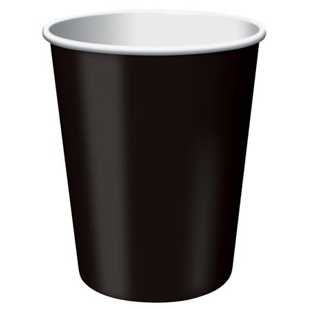 9oz Solid Color Cups - Black Velvet