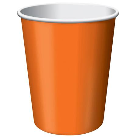 9oz Solid Color Cups - Sunkissed Orange